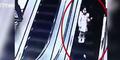 Video Pengunjung Mal Ketiban Troli Belanja dari Eskalator