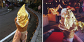 Baru! Es krim Cone Klasik Berlapis Emas Ada di Jepang
