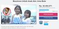 Netter Galang Dana Untuk Beasiswa Pendidikan Anak Irma Bule