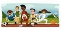 Sambut Olimpiade London 2012 'Google Doodle' Hari Ini Bertema Olahraga
