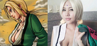 Foto Cosplayer Tsunade Seksi, Ma You Rong