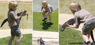 Foto Putra Steve Irwin Jinakkan Buaya di Usia 10 Tahun