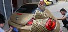 Foto Mobil Berlapis Koin Anti Kecelakaan