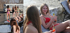 Para Gadis Rusia Berbikini Seksi di Jalanan Rusak