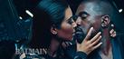 Pose Hot Kim Kardashian-Kanye West di Iklan Balmain