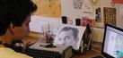 Desainer Brasil Lukis Wajah Orang Pakai Mesin Ketik