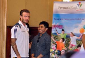 Foto David Beckham Saat Jumpa Pers