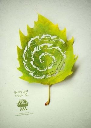 'Plant For The Planet' Iklan Unik dari Selembar Daun
