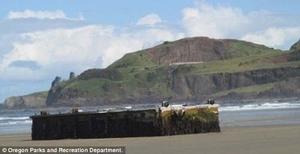 Foto Potongan Dermaga Jepang Terseret Tsunami Hingga AS