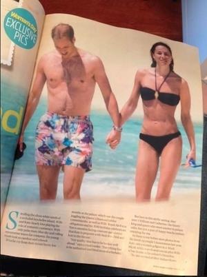 Foto Bulan Madu Pangeran William & Kate Middleton Terpampang di Majalah