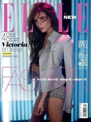 Victoria Beckham Tampil Berlingerie di Cover ELLE Magazine