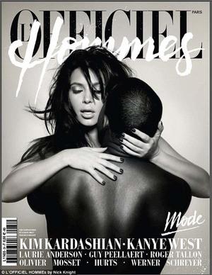 Pose Ranjang Kanye West & Kim Kardashian
