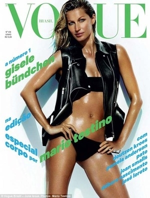 2 Bulan Pasca Melahirkan, Gisele Bundchen Topless di Vogue