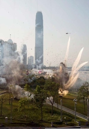 Bocoran Foto Syuting Transformers: Age of Extinction di Hong Kong