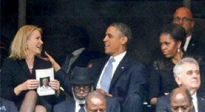 Obama Asyik dengan PM Denmark yang Cantik, Michelle Cemburu
