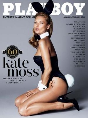 Kate Moss Berpose Topless untuk Majalah Playboy