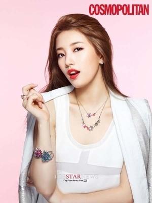 Suzy Miss A Tampil Cantik dan Menawan di Cosmpolitan Edisi Valentine