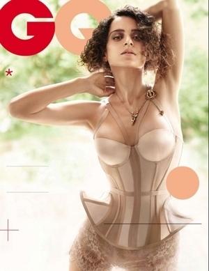 Pose Seksi Aktris Bollywood Kangana Ranaut di Majalah GQ