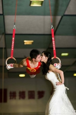 Foto Pre Wedding Romantis Atlet Senam China