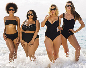 Seksi itu Kurus? Lihat Foto Bikini untuk Wanita Bertubuh Subur