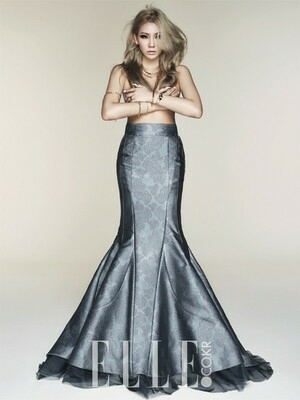 Foto Topless CL 2NE1 di Majalah ELLE Korea