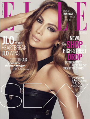 Foto Bokong Seksi Jennifer Lopez di Cover Majalah ELLE