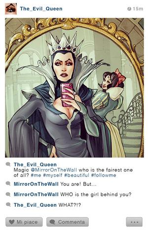 Foto Selfie Unik Tokoh Kartun Disney di Instagram