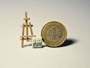 Lukisan Mikro Di Atas Kacang Karya Seniman Turki, Mesut Kul