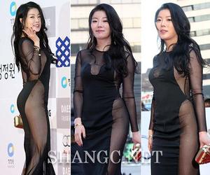 Noh Su Ram Pakai Gaun Transparan Seksi di Blue Dragon Awards 2014