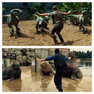 Penjaga Kebun Binatang Tiru Aksi Chris Pratt di Jurassic World