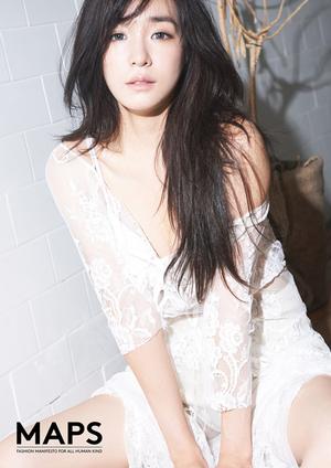 Tiffany SNSD Pamer Belahan Dada Seksi di Majalah MAPS