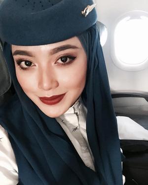Radiah Sarip, Pramugari Cantik Berhijab Asal Malaysia