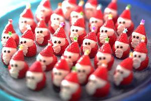 Meriahkan Natal, Jepang Jual Sushi Bentuk Santa