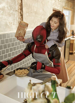 HyunA 4Minute Mesra Bareng Deadpool di Majalah High Cut