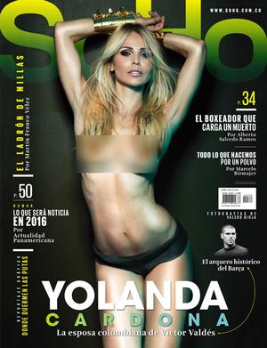 Foto Hot Yolanda Cardona WAGs Valdes Di Majalah Kolombia