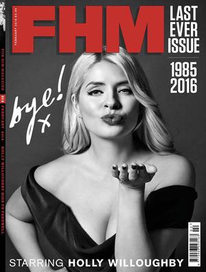 Holly Willoughby Jadi Model Sampul Edisi Terakhir FHM