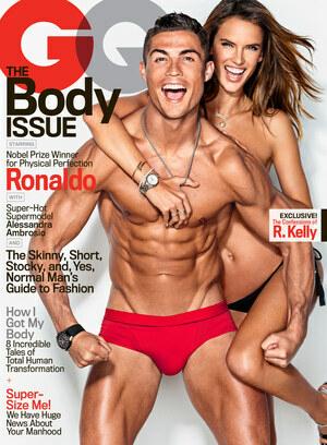 Foto Cristiano Ronaldo-Alessandra Ambrosio Telanjang di Majalah GQ