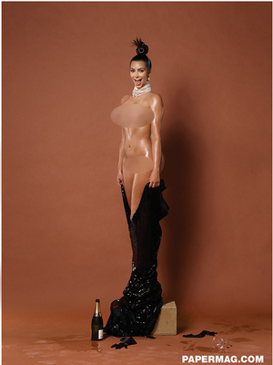 Foto: Kim Kardashian Juga Bugil di Paper Magazine