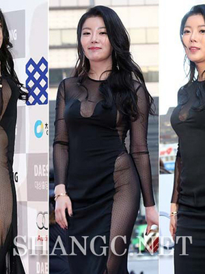 Noh Su Ram Pakai Gaun Transparan Seksi di Blue Dragon Awards 2014
