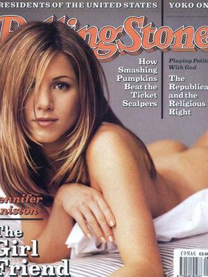 9 Foto Jennifer Aniston Nyaris Bugil di Cover Majalah