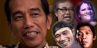 4 Artis Mulai Tarik Dukungan dari Jokowi