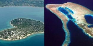 7 Pulau Unik-Menarik, Wah Ada Pulau smiley dan Pulau Hati