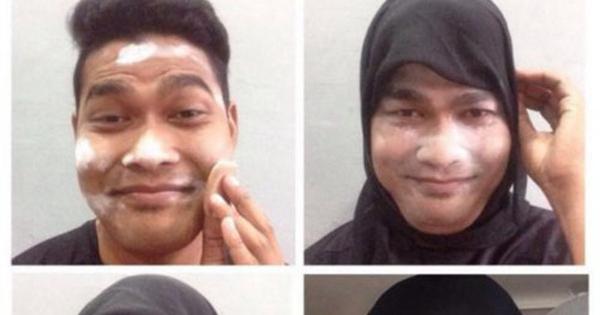 foto meme makeup transformation dari hancur jadi jelita   2
