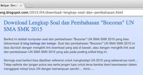 Blog Pak Anang Dituduh Sebar Bocoran Soal Un 2015